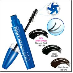 NEW AEROVOLUME MASCARA FROM AVON - LASHES get all of the VOLUME none of the WEIGHT; Unique star-shaped wire brush creates vertical lift and even formula deposit.  Plush, weightless formula banishes midday droop with plumped-up volume.  Smudge-proof, waterproof, clump-resistant and available at www.youravon.com/jfreemyers