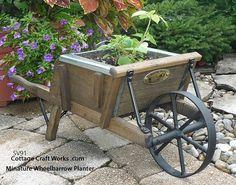 Miniature Wooden Wheelbarrow