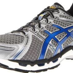 ASICS Men's GEL-Kayano 19 Running Shoe,Titanium/Royal/Black,10.5 M US