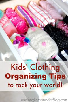 Great tips for organizing kids' clothes that I wish I knew sooner. Huge timesavers and they make staying organized a cinch-- love the first tip!