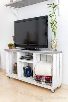 Rustic TV Console Table
