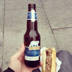 Sans oublier une #bière au miel du #Canada pour accompagner le bison. #Angers #SoleilsdHiver