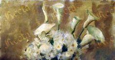 Olio su tavola 55cm x 49cm  ♦  Recta Galleria d'arte -  Roma - Pittori e dipinti dell'ottocento e novecento, arte e scultura 800 e primo 900