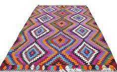 VINTAGE Turkish Kilim Rug Carpet, Handwoven Kilim Rug, Antique Kilim Rug ,Decorative Kilim -  80'' X 116 '' INCHES - 203 X 295 CM