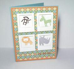 My CASE of a design by Amanda Mertz, www.didyoustamptoday.blogspot.com -- Zoo Babies stamp set, mini Polaroid frames