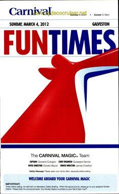 FunTimes - 7day Western Caribbean cruise - Carnival Magic