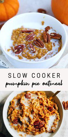 Pumpkin Pie Oatmeal, Pumpkin Spice, Pumpkin Pie Crisp Recipe, Pumpkin Recipes Healthy Dinner, Pumpkin Dinner Recipes, Autumn Food Recipes, Paleo Pumpkin Recipes, Pumpkin Crisp, Pumpkin Foods
