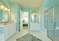 turquoise bathroom | The ML Group