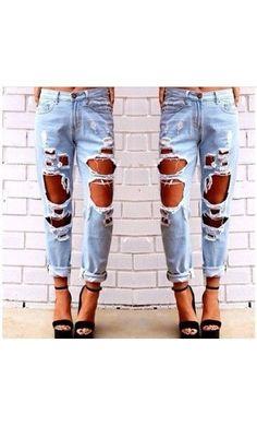 save off 478b2 2c9a3 Jeans Donna Maxi Strappi new moda fashion 2015