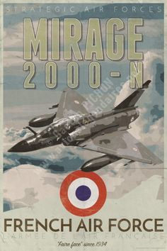 poster-affiche-mirage-2000N-armee-air-copyright-Pichon