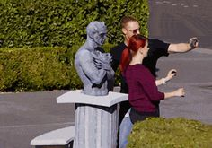 Living Statue Prank--this would give a Whovian a hearts attack <=== *it moves* Me: *runs* THEY'RE REAL!!!