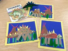 Kindergarten Dinosaurs - Art w/Mr. Dinosaur Theme Preschool, Dinosaur Dig, Dinosaur Activities, Dinosaur Projects, Craft Projects, Alphabet Art, Kindergarten Art, Teaching Art, Book Crafts