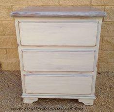 Pintar pino en decapé blanco, paso a paso como hacerlo.