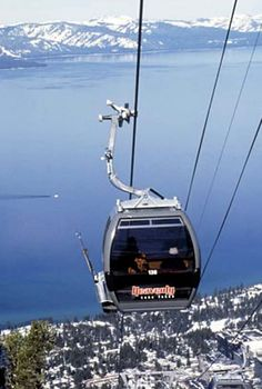 The Gondola at Lake Tahoe's Heavenly Mountain, California Lake Tahoe Summer, Lake Tahoe Vacation, South Lake Tahoe, Nevada California, California Camping, California Mountains, Southern California, California Honeymoon, Heavenly Ski Resort