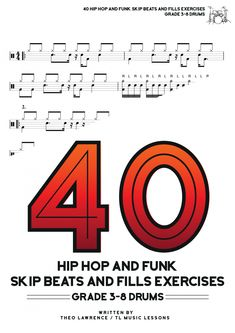 Buy The Book → Introduction This book contains drum beats and drum fills in the styles of Hip Hop, Rap, Grime and Funk, Soul and Rock/Pop. The book has some grade 3-4 level exercises and also some harder ones, ranging from Grade 5 to Grade 8. The book would be an ideal add on for […] The post 40 Hip Hop and Funk Skip Beats and Fills Exercises ebook – Grades 3-8 appeared first on Learn Drums For Free. Drum Sheet Music, Drums Sheet, Drums Beats, Rap Beats, Drum Lessons, Music Lessons, Learn Drums, Skip Beat, Grade 3