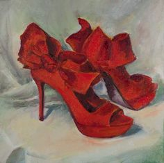 Darling red pumps. Too bad this is just a painting.