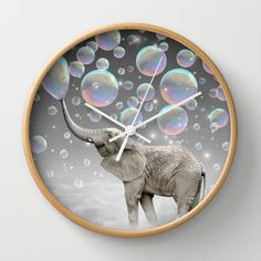 The Simple Things Are the Most Extraordinary (Elephant-Size Dreams) Wall Clock