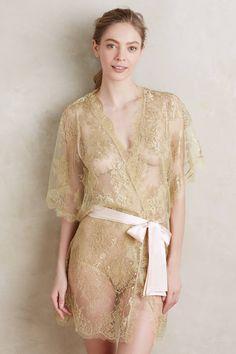 Gilda & Pearl Ribboned Gold Kimono