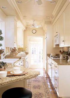 classic galley kitchen