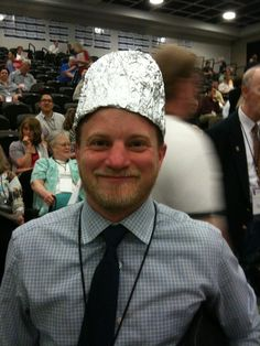 tin foil hat is an easy and awesome costume idea