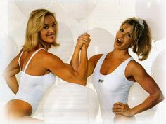 Cory Everson arm-wrestling her sister, Cameo Kneuer