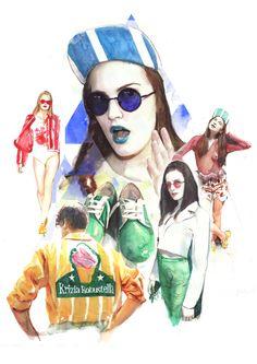 Fashion Collage Illustrations by Berto Martinez Fashion Collage, Fashion Art, Vintage Fashion, Vintage Style, Surreal Collage, Collage Art, Collage Vintage, Ernesto Artillo, Portraits