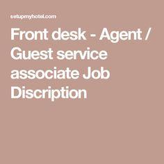 Front Desk  Guest Services Manager Job Description  Christie
