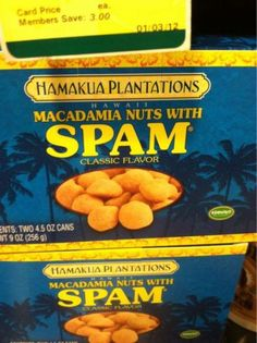 Weird food Products | STRANGE FOOD PRODUCTS - SPAM FLAVORED WITH MACADAMIA NUTS