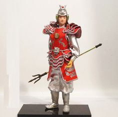 32cm tall Ancient Chinese Military Officer General Commander PU leather cloth-9