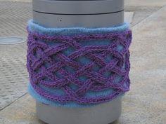 Celtic Knot Crochet meets Yarn Bombing at Currier Museum of Art - more photos at www.celticknotcrochet.blogspot.com - by Jennifer E Ryan