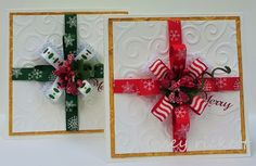 Christmas Present Cards and Tutorial from Really Reasonable Ribbon