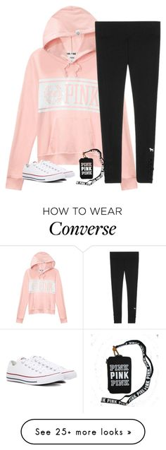 """Untitled #2541"" by laurenatria11 on Polyvore featuring Victoria's Secret and Converse"