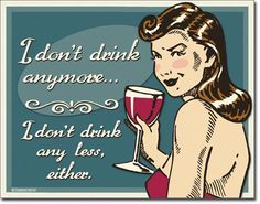Don't Drink Anymore Tin Sign, $8.95