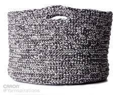 Double Good Crochet Basket   Free Pattern   Caron One Pound   Gray Matters