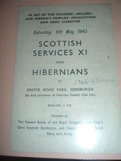 Hibernian v Scottish Services X1 May 1945