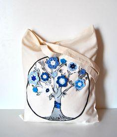 Tree life Tote bag Family tree tote by Lemiecreazionidarte on Etsy