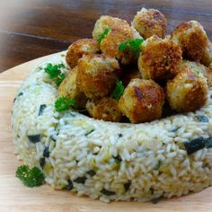Dinner Party Risotto with Fish Croquettes by food blogger Alida Zamarini from My Little Italian Kitchen. Recipe on LoveRice.org website