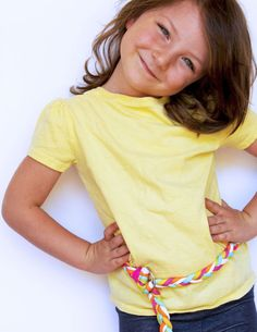 DIY Braided Shoelace Belt and more crafts for kids in the Happy Handmade eBook