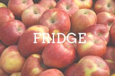 Where do I store apples? Answer: Fridge Answer: Fridge  Like stone fruits, apples should be left out at room temperature if they still need to ripen. Once an apple is ripe, however, storing it in the fridge will extend its shelf life dramatically from 1 to 3 days to 3 to 4 weeks! Plus, who doesn't love biting into a crisp, cool apple?