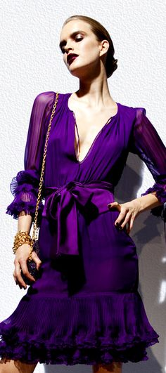 amazing purple ~ amazing dress ~ from Tom Ford spring / summer 2012 Look Book