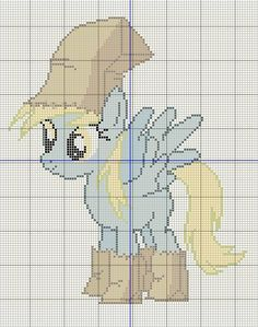 Buzy Bobbins: Derpy Hooves in her Nightmare Night costume cross stitch design