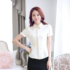 New-2015-Fashion-Ladies-Pink-Shirts-Women-Work-Blouses-Summer-Formal-Ladies-Office-Uniform-Blouses-and.jpg (790×790)