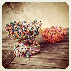 CREATIEF EN FANTASIERIJK: do it yourself: made from beads en baked in the oven Bead Bowl, Fuse Beads, Hama Beads, Melting Beads, Craft Corner, Decorative Bowls, Nice Ideas, Diys, Creative Ideas
