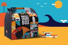 Illustration for McDonalds's sharebox with Be Fly. Food Design, How To Find Out, Packaging, Illustration, Summer, Projects, Crafts, Awards, Art