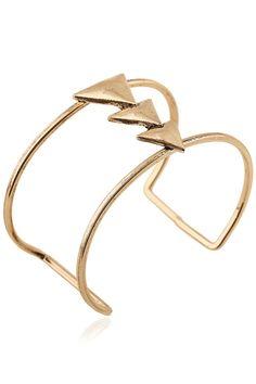 Triangle Two-Layered Cuff Bracelet