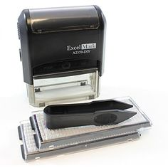 Bank deposit stamp five line self inking stamp for check excelmark self inking do it yourself stamp kit a2359 di solutioingenieria Choice Image