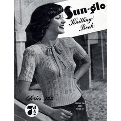 1940s Vintage Knitting Patterns Sweaters & by BessieAndMaive, $12.00