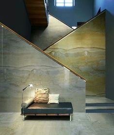 Marble stair case