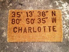 Latitude and Longitude DIY Doormat by Paper and Fox