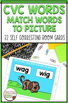 Are you looking for some great digital learning activities for your young learners? Check out these short vowel words digital Boom Cards! Students will click on the word that matches the picture on these self-checking cards! Great for distance learning or classroom stations. Reading Resources, Reading Activities, Classroom Resources, Vowel Practice, Teachers Toolbox, 2nd Grade Classroom, First Grade Reading, Reading Centers, Cvc Words
